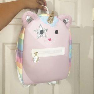 NEW betsey Johnson pink rainbow unicorn cat bag